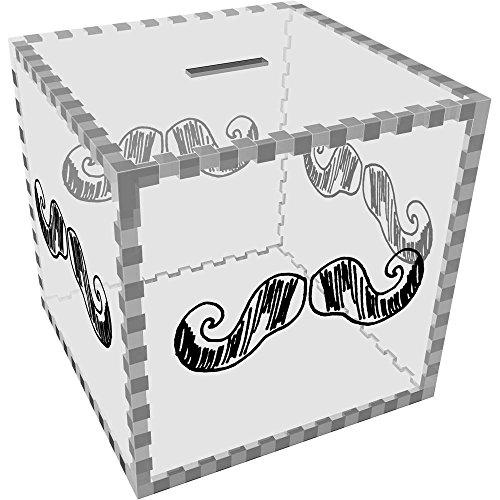 Azeeda Grande 'Bigote' Caja Dinero / Hucha MB00012436