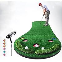QiangDa Vergrößert Golf Puttingmatten/Schlagmatten Persönliche Übungsmatte Outdoor / Indoor Freizeit Einfaches Falten, 300 X 90 Cm, 2 Sätze Optional