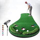 QiangDa Vergrößert Golf Puttingmatten/Schlagmatten Persönliche Übungsmatte Outdoor/Indoor Freizeit Einfaches Falten, 300 X 90 Cm, 2 Sätze Optional (Farbe : 1#)