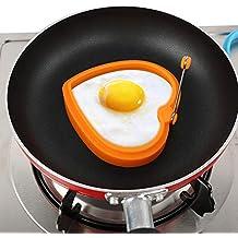 CRAZYON 1 Unids Silicona Forma de Corazón Anillos de Huevo Antiadherente Panqueque Molde Desayuno Cocina Herramienta