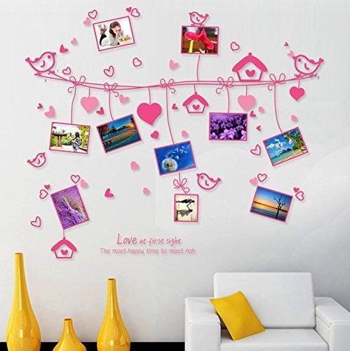 LOOP XL Fotorahmen Wandtattoo in pink Wandsticker Liebe Romantik Familie Stammbaum Dekoration Deko