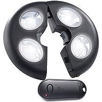 Lunartec Sonnenschirmbeleuchtung: Helle LED-Schirmleuchte LSL-120, IP44, Fernbedienung, dimmbar, 120 lm (LED Sonnenschirm Beleuchtungen)