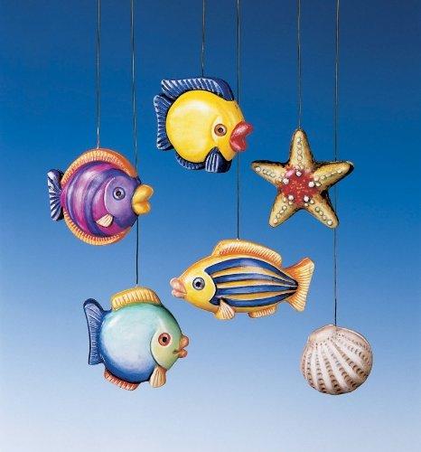 Stampo da 10 formine per 6 pesci conchiglia 3d tema marino gesso ceramico