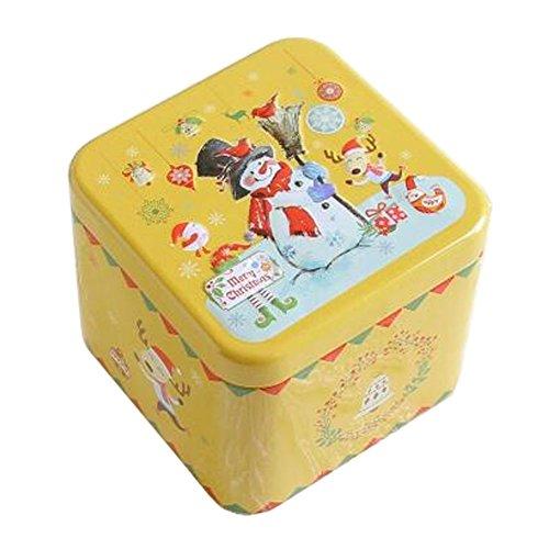Entz?ckende 3D Entlastung Quadratische S??igkeit-Zinn-Pl?tzchen-Kasten-Geschenk-Kasten Tee-Speicher-Zinn-Kasten, # 09
