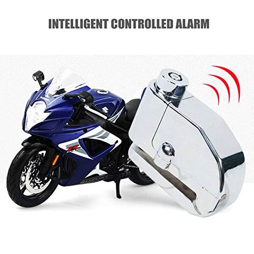 Bainuojia Bremsscheibenschloss mit Alarm 110dB für Motorrad Fahrrad Roller Diebstahlsicherung