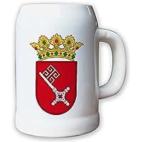 Brocca/boccale di birra 0,5l–Brema, paese BRD federale di Germania Stemma Bandiera # 9415