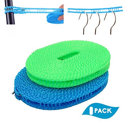 Lieja 16.4 pies/5 m Nylon Hanger Multifuncional Colgar seco y húmedo Ropa Antideslizante Cuerda Todo lo demás