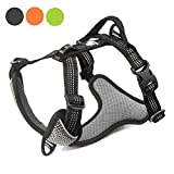 No Pull Dog Vest Harness for Medium Dogs (Walking/Car Travel)- [Upgrade Version] Stop