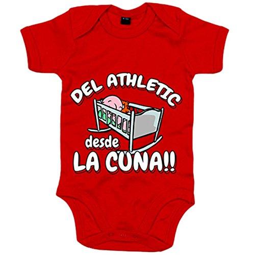 Body bebé del Athletic desde la cuna Bilbao fútbol - Rojo, 6-12 mese