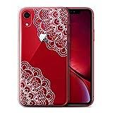 Stuff4 Coque Gel TPU de Coque Apple iPhone XR/Décoratif Design/Dentelle Florale...
