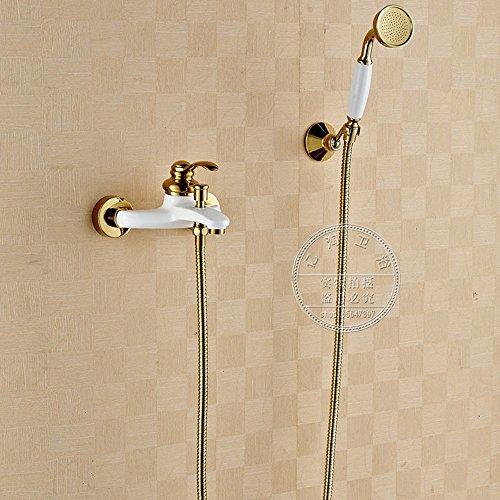 Preisvergleich Produktbild ZQ@QX Continental Cu alle gold Einfachheit dusche Armaturen Kit,