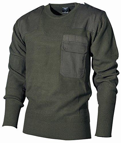 Bundeswehr Pullover mit Brusttasche, oliv, Größe 50