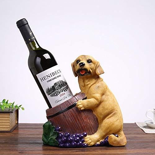 Botelleros Vino Sostenedor De Botellas, Estatua De Animales Escultura Figurilla Perro Y...