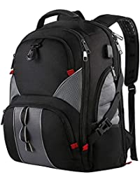 Mancro Travel Business Large Laptop Backpack Casual Daypack, 51 cm, Black