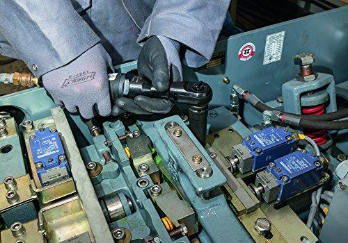 Hazet 9022SR-1 Clé à rochets pneumatique/Carré massif 12,5 mm longueur 280 mm/système de frappe puissant