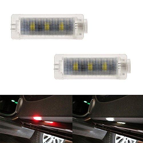 Preisvergleich Produktbild Ralbay 2pcs Autotür LED-Warnleuchte Solides Weiß mit Strobe Red Light für 3 Series E90 E91E93 5 Series E61 F10 6 E63 E64 7 E65 E66