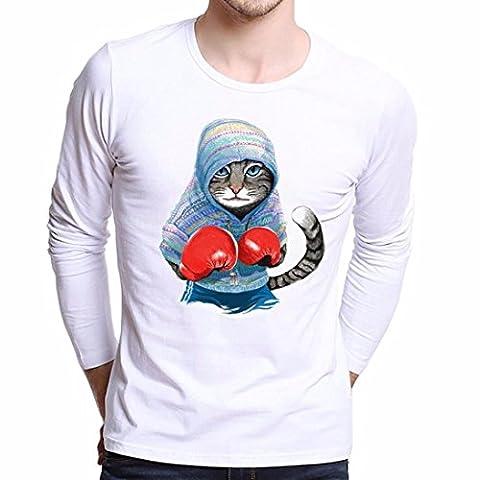 Beauté Top Hommes Taille Plus d'impression Tee shirts Cartoon Chemise