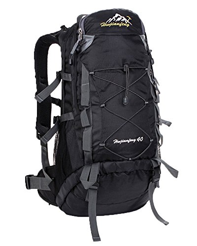 Outdoor Backpack54x27x14 Tanxianzhe Hiking Cm40 Unisex BackpackerWaterproof Nylon Backpack Trekking Hwjianfeng Bags LitresBlack Reiserucksäck qSUzpMVG