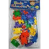 Babytintin™ Plastic Learning Building Blocks Toys Kid Puzzle Assembling Block Educational Building Bricks Toy Block Set (Square Blocks)