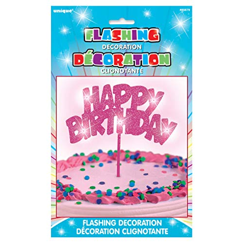 Unique Party Supplies Blinkende Happy Birthday Kuchen-Dekoration