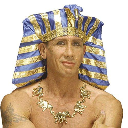 Collier Égypte pharaon éléphant antiquité antique Afrique bijou fantaisie orient en or soirée à thème accessoire déguisement mardi gras