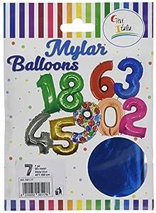 GiviItalia 56117 Mylar - Globo (metal, 7 cm) 102, azul