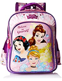 Disney Princess Purple School Bag For Children Of Age Group 6-8 Years | Size 16 Inch