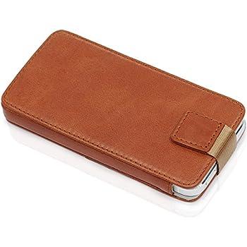 """KAVAJ Ledertasche Case Hülle """"Miami"""" für das Apple iPhone 5S, iPhone 5 cognac braun aus echtem Leder mit Fach für Geldscheine oder Visitenkarten. Dünnes Etui Tasche als edles Zubehör für das Original Apple iPhone 5/5S"""