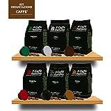 96 Cápsulas de Café compatibles Dolce Gusto - kit degustación de 96 cápsulas café compatible con maquinas Dolce Gusto- Paquete de 6x16 por un total de 96 cápsules - Il Caffè italiano
