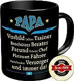 2603 Geburtstag Vatertag Tasse: PAPA VORBILD ... UND IMMER DA