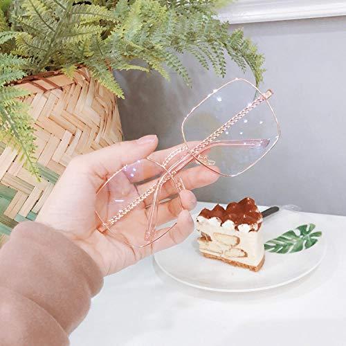BHLTG Sonnenbrille Männer und Frauen Mode Persönlichkeit Quadrat Brillengestell Sonnenbrille kann mit Kette Outdoor-Sport Reise Sonnenbrille-2 ausgestattet werden