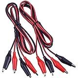 eBoot 2 Grupos Set de Cables de Prueba 1M con Pinzas de Alligator Cables de Puente de Doble Extremos