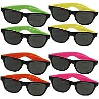Dazzling Toys pour enfants, lunettes de soleil Wayfarer couleurs  fluorescentes style des années 80 ( 934c428defd9