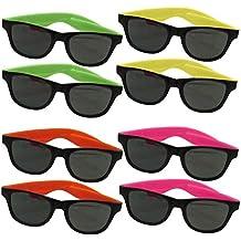 Dazzling Toys pour enfants, lunettes de soleil Wayfarer couleurs  fluorescentes style des années 80 ( b4b9d8053513
