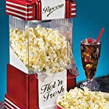 Smart Retro Hot Air Popcorn Maker, Schwarz