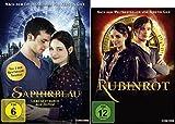 Rubinrot + Saphirblau dvd Set, Bundle, Teil 1 & 2 der 1&2 der triologie Liebe geht durch alle Zeiten Verfilmung