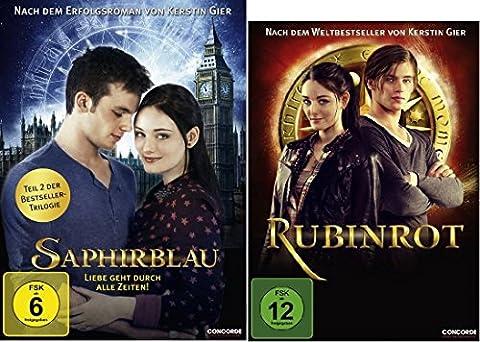 Rubinrot + Saphirblau dvd Set, Bundle, Teil 1 & 2 der 1&2 der triologie Liebe geht durch alle Zeiten