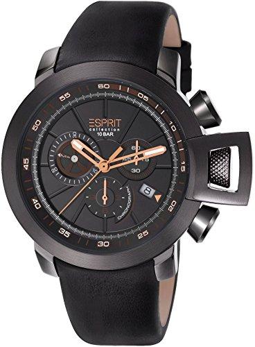 ESPRIT Collection Men's Watch Aeolus Chronograph Quartz Leather el101831°F05