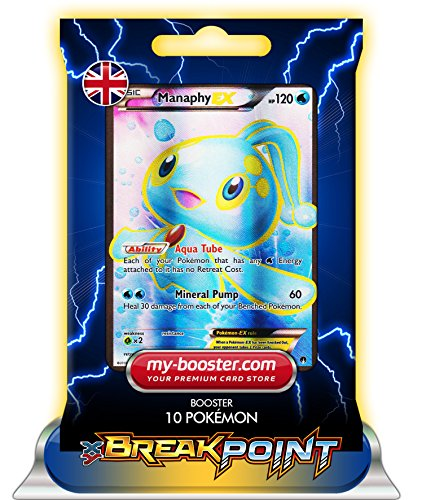 MANAPHY EX FULL ART 116/122 120HP XY09 BREAK POINT - Booster de 10 cartes Pokemon anglaises my-booster