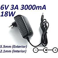Cargador Corriente 6V 3A 3000mA 5.5mm 2.1mm 18W