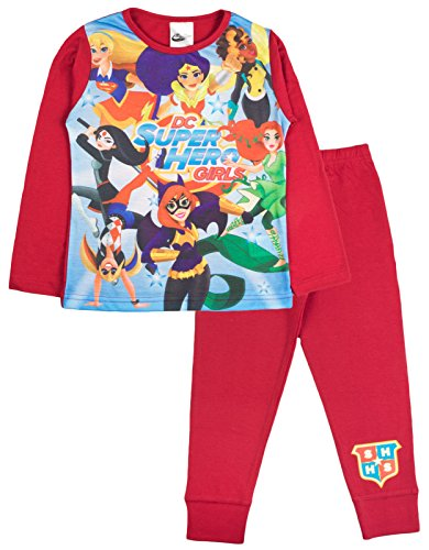 chlafanzug Gr. 7-8 Jahre, DC Super Hero Girls - 7 Character (Kid Pjs)