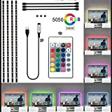 CHENLENIC Led-Strips TV-Backlight, 4X0.5 Meter USB RGB Multi Color Light Strips Kit for 40-60 Inch TV RGB TV Bias Led Lights Home Theater Lighting Kits(Reduce Eye Fatigue and Increase Image Clarity)