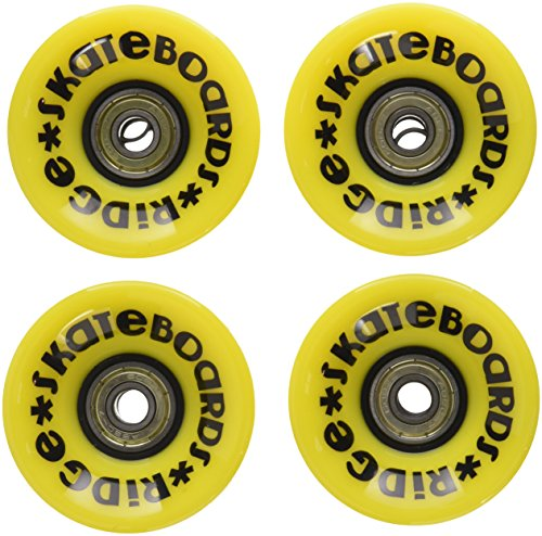 Ridge Cruiser - Ruedas de monopatín, Color Amarillo, tamaño 59mm