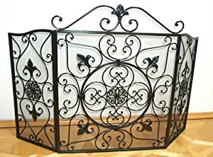 funkengitter funkenschutz f r kamin im nostalgie stil. Black Bedroom Furniture Sets. Home Design Ideas