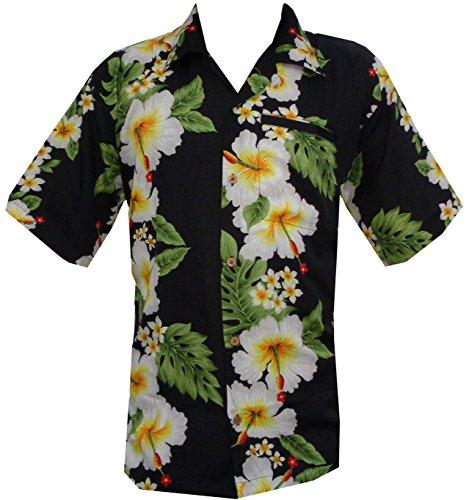 hawaii-hemd-der-manner-hibiskus-mit-blumenmuster-beach-camp-party-schwarz-4xl