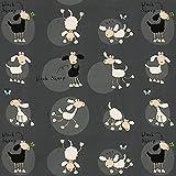 Fabulous Fabrics Black Sheep - Meterware ab 0,5m - zum