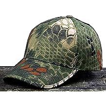 Noga - Gorra con visera estilo militar de camuflaje en bosques y exteriores con diseño pitón