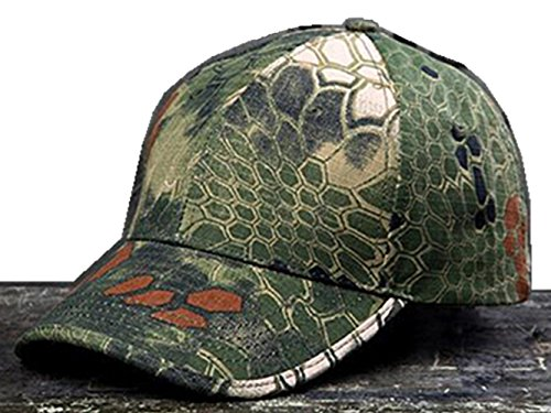 Noga Python camuflaje sombrero para el sol sombrero del ejército al aire libre simplicidad camuflaje táctico al aire libre Gorra de Pesca Senderismo Caza woodland python Camouflage