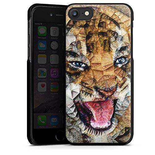 Apple iPhone X Silikon Hülle Case Schutzhülle Angry Cat Tiger Katze Hard Case schwarz