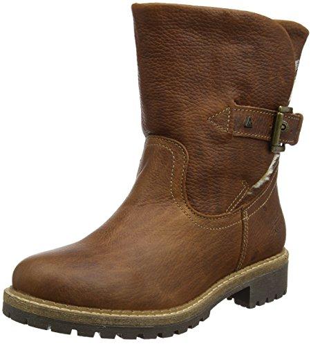 Gaastra Damen Ledro High TMB fur W Biker Boots, Beige (Cognac), 41 EU